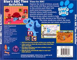 Box back cover for Blue's Clues: Blue's ABC Time Activities on the ScummVM.