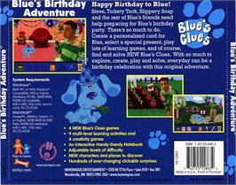 Box back cover for Blue's Clues: Blue's Birthday Adventure on the ScummVM.