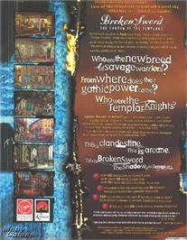 Box back cover for Broken Sword: The Shadow of the Templars on the ScummVM.