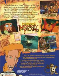 Box back cover for Curse of Monkey Island on the ScummVM.