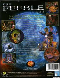 Box back cover for Feeble Files on the ScummVM.
