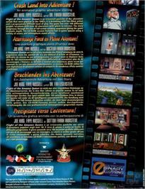 Box back cover for Flight of the Amazon Queen on the ScummVM.