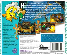 Box back cover for Freddi Fish: The Case of the Hogfish Rustlers of Briny Gulch on the ScummVM.