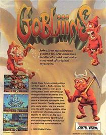 Box back cover for Gobliiins on the ScummVM.