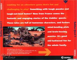 Box back cover for Goblins Quest 3 on the ScummVM.