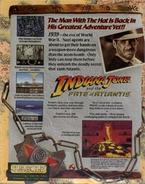 Box back cover for Indiana Jones and the Fate of Atlantis on the ScummVM.