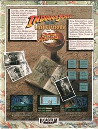 Box back cover for Indiana Jones and the Last Crusade on the ScummVM.