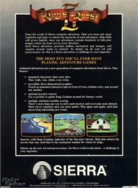 Box back cover for King's Quest II: Romancing the Throne on the ScummVM.