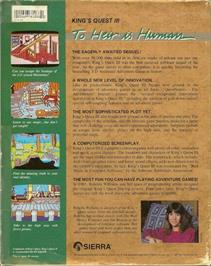 Box back cover for King's Quest III: To Heir is Human on the ScummVM.