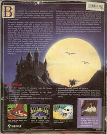Box back cover for King's Quest IV: The Perils of Rosella on the ScummVM.