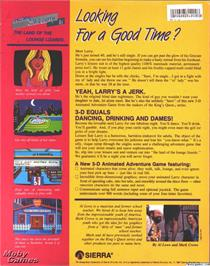 Box back cover for Leisure Suit Larry in the Land of the Lounge Lizards on the ScummVM.