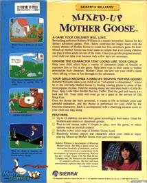 Box back cover for Mixed-Up Mother Goose on the ScummVM.