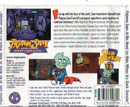 Box back cover for Pajama Sam: Thunder and Lightning aren't so Frightening on the ScummVM.