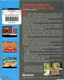 Box back cover for Police Quest: In Pursuit of the Death Angel on the ScummVM.