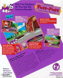 Box back cover for Putt-Putt Joins the Parade on the ScummVM.