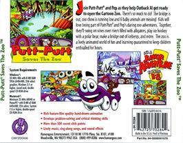 Box back cover for Putt-Putt Saves the Zoo on the ScummVM.