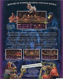 Box back cover for Simon the Sorcerer on the ScummVM.