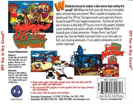 Box back cover for Spy Fox in