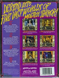 Box back cover for Waxworks on the ScummVM.