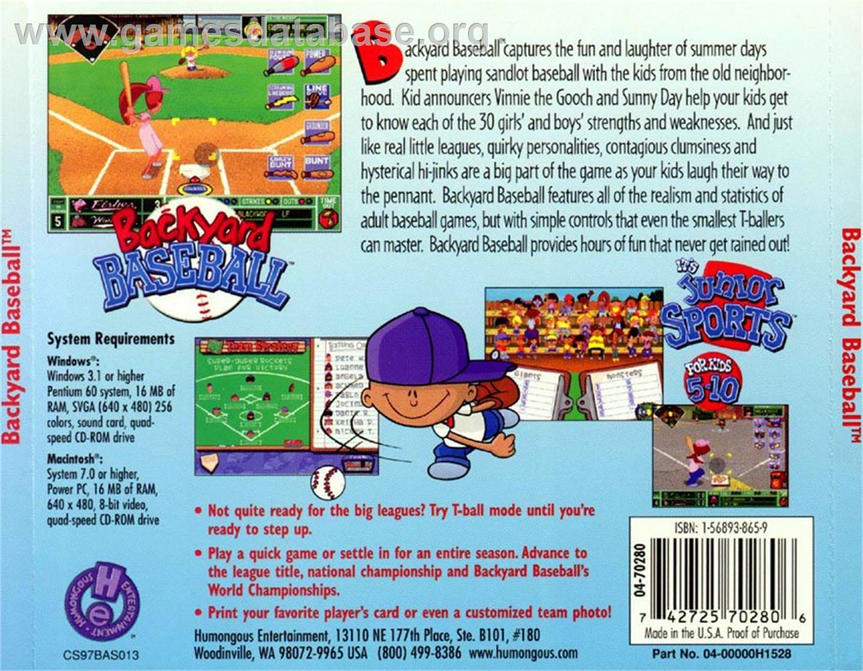 box back cover for backyard baseball on the scummvm