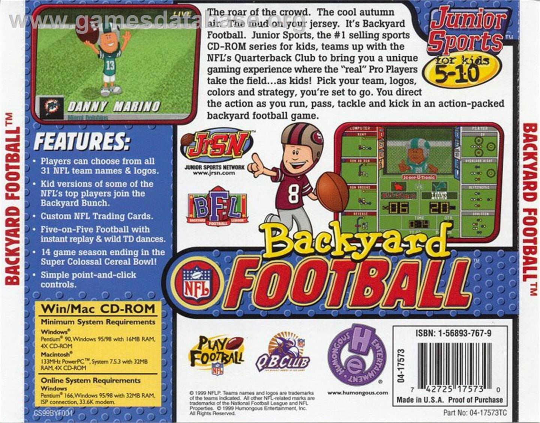 backyard football 1999 humongous