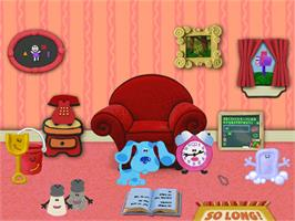 In game image of Blue's Clues: Blue's ABC Time Activities on the ScummVM.