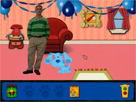 In game image of Blue's Clues: Blue's Birthday Adventure on the ScummVM.