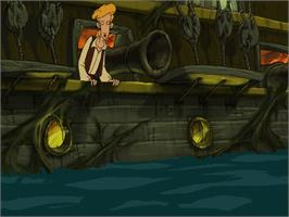 In game image of Curse of Monkey Island on the ScummVM.