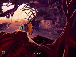 In game image of Dig on the ScummVM.