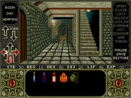 In game image of Elvira: Mistress of the Dark on the ScummVM.