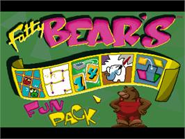 In game image of Fatty Bear's Fun Pack on the ScummVM.