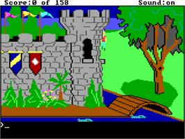 In game image of King's Quest I: Quest for the Crown on the ScummVM.