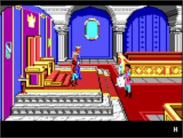 In game image of King's Quest IV: The Perils of Rosella on the ScummVM.