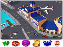 In game image of Let's Explore the Airport with Buzzy on the ScummVM.