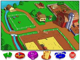 In game image of Let's Explore the Farm with Buzzy on the ScummVM.