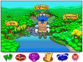 In game image of Let's Explore the Jungle with Buzzy on the ScummVM.