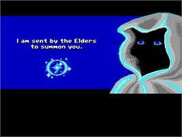 In game image of Loom on the ScummVM.