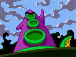In game image of Maniac Mansion: Day of the Tentacle on the ScummVM.