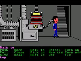 In game image of Maniac Mansion on the ScummVM.