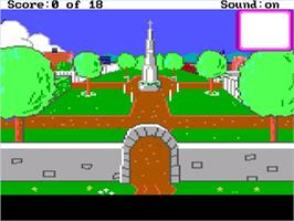In game image of Mixed-Up Mother Goose on the ScummVM.