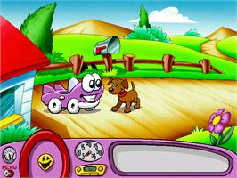 In game image of Putt-Putt Enters the Race on the ScummVM.