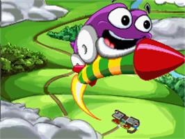 In game image of Putt-Putt Goes to the Moon on the ScummVM.