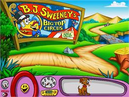 In game image of Putt-Putt Joins the Circus on the ScummVM.