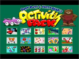 In game image of Putt-Putt and Fatty Bear's Activity Pack on the ScummVM.