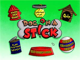 In game image of Putt-Putt and Pep's Dog on a Stick on the ScummVM.
