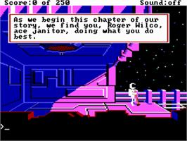 In game image of Space Quest II: Vohaul's Revenge on the ScummVM.