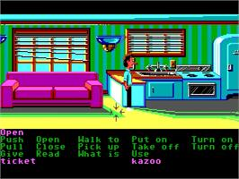 In game image of Zak McKracken and the Alien Mindbenders on the ScummVM.