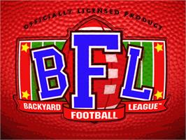 Title screen of Backyard Football on the ScummVM.