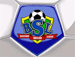 Title screen of Backyard Soccer on the ScummVM.