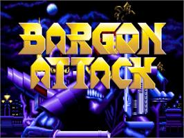 Title screen of Bargon Attack on the ScummVM.